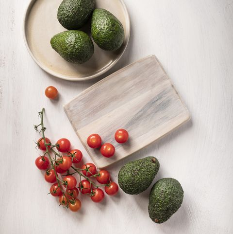 avocados and tomatoes