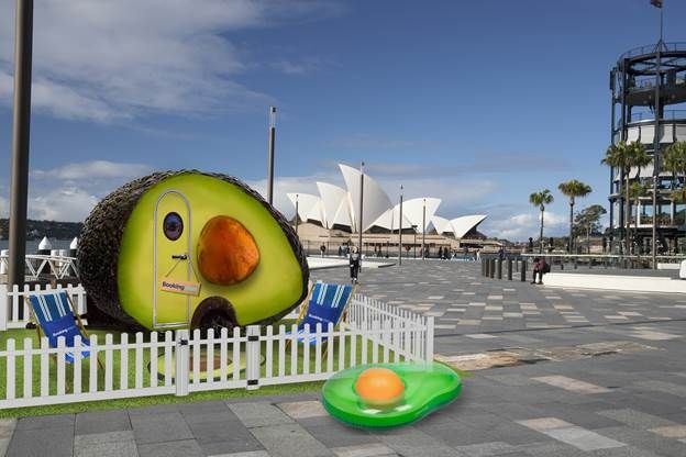 A Giant Avocado-Themed Condo Is Available To Rent And It Has A View Of The Sydney Opera House