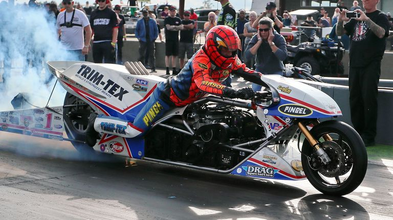 Ageless Larry 'spiderman' Mcbride Still Enjoys Madness Of Motorcycle Drag Racing