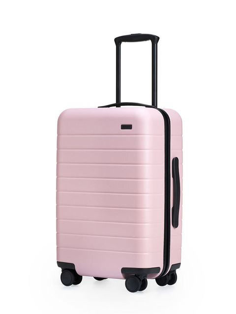 Suitcase, Hand luggage, Baggage, Pink, Bag, Luggage and bags, Travel, Rolling, Wheel,
