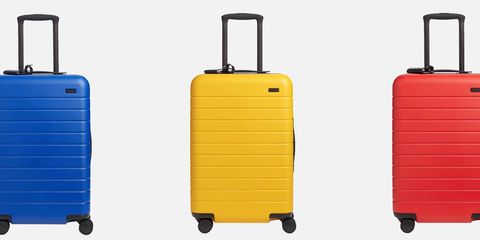 Suitcase, Hand luggage, Baggage, Yellow, Rolling, Luggage and bags, Bag, Travel, Automotive wheel system, Wheel,