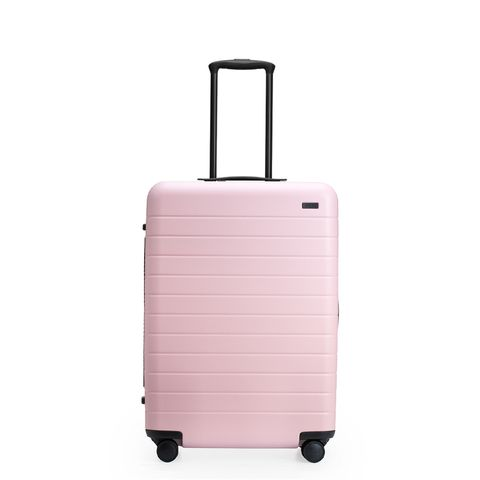 millennial pink away luggage where to buy pink carry on. Black Bedroom Furniture Sets. Home Design Ideas