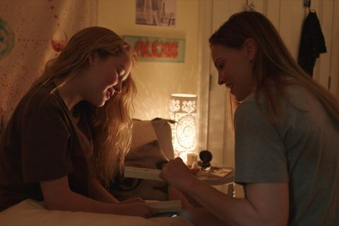 away l to r talitha eliana bateman as alexis and hilary swank as emma green in episode 101 of away cr courtesy of netflix © 2020