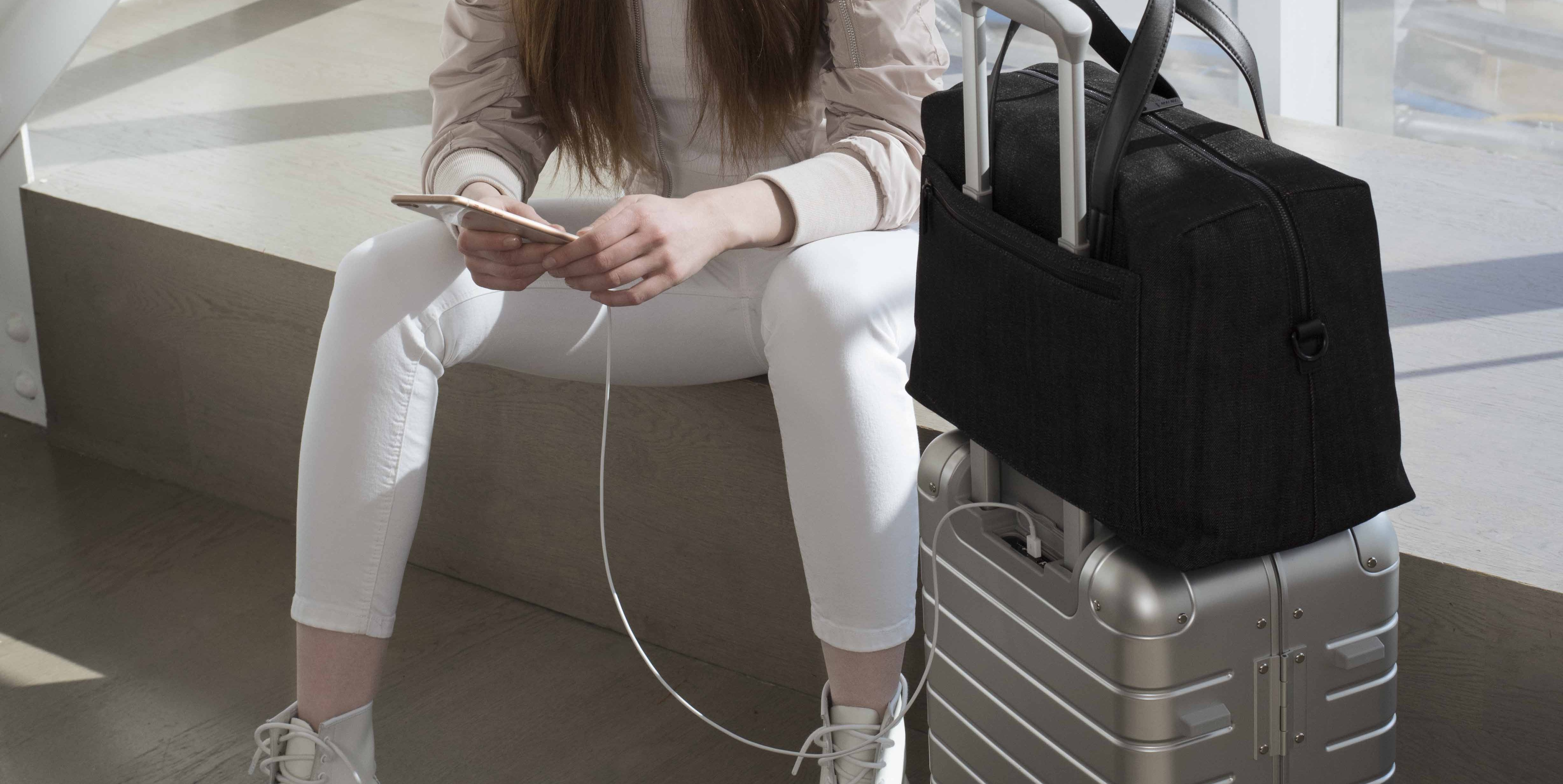 Away carry-on case charger