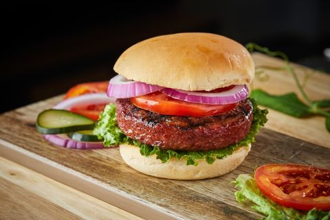 Food, Hamburger, Dish, Cuisine, Veggie burger, Salmon burger, Cheeseburger, Ingredient, Bun, Patty,