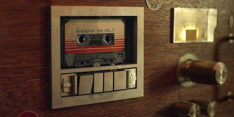 imagen del cassette del awesome mix en guardianes de la galaxia