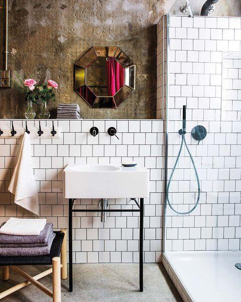 Un precioso baño de estilo industrial