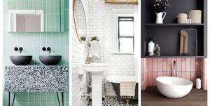 baños azulejos metro verticales