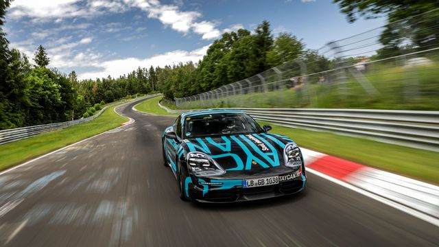 porsche taycan lapping the ring