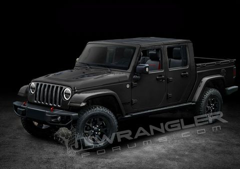 2019 Jeep Wrangler Pickup Rendered