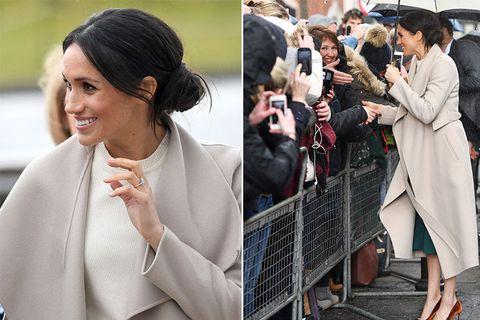 Meghan Markle,梅根王妃,哈利王子,訂婚,髮型,隨性包頭,英國皇室,傳統形象