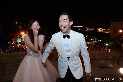 林志玲和Akira(黒澤良平)婚禮