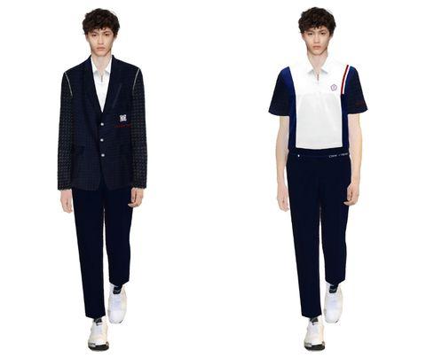 Clothing, Standing, Uniform, Outerwear, Suit, Sleeve, Blazer, Trousers, Formal wear, Jacket,