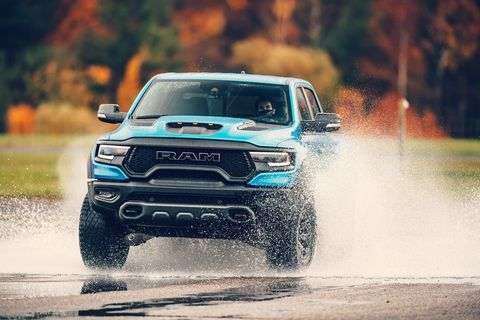 ram 1500 trx at road  track's 2021 performance car of the year tests