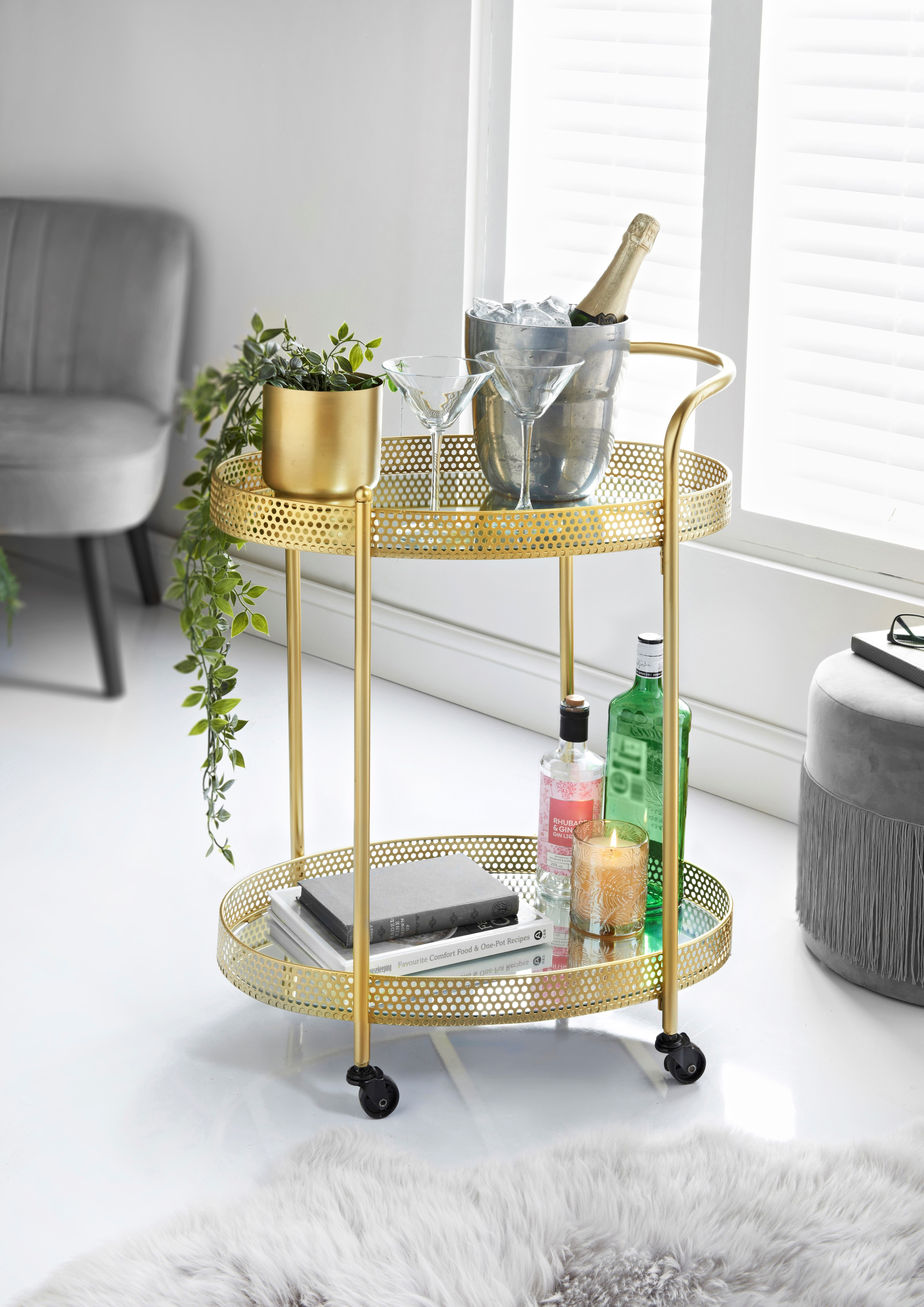 Picture of: B M Launches 40 Deco Glam Drinks Trolley