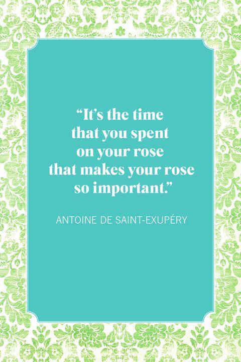 flower quotes antoine de saint exupery