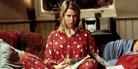Pajamas, Sitting, Carmine, Flesh,