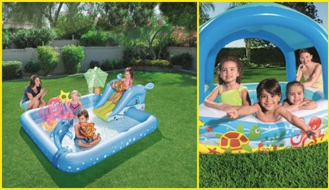 Inflatable, Games, Leisure, Fun, Recreation, Play, Backyard, Swimming pool, Grass, Outdoor play equipment,