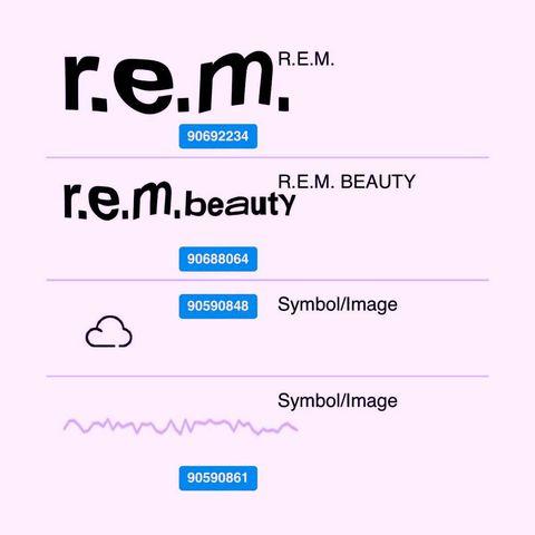ariana grande的美妝品牌rem beauty已經註冊商標