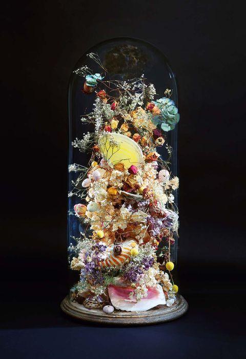 Flores como escultura