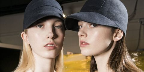 Clothing, Hat, Lip, Beauty, Chin, Nose, Baseball cap, Headgear, Cap, Fashion accessory,