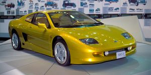 Samsung prototype sports car in the Samsung Transportation museum. Image shot 2002. Exact date unknown.