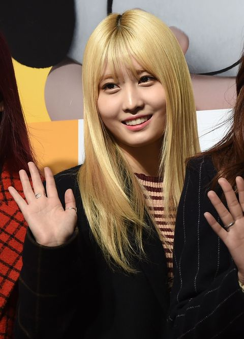 momo of twice attends the premiere of the movie the peanuts movie on december 16, 2015 in seoul, south korea 2015 12 16