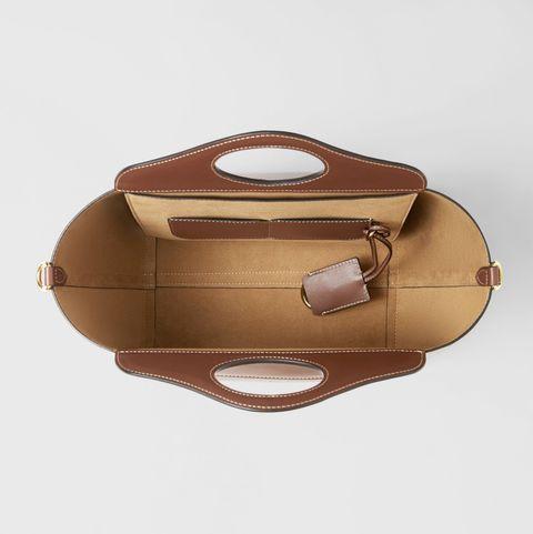 burberry 咖啡色t型托特包 內裝