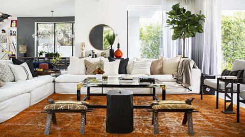 Living room, Room, Furniture, Interior design, Coffee table, Property, Table, Building, Couch, Home,