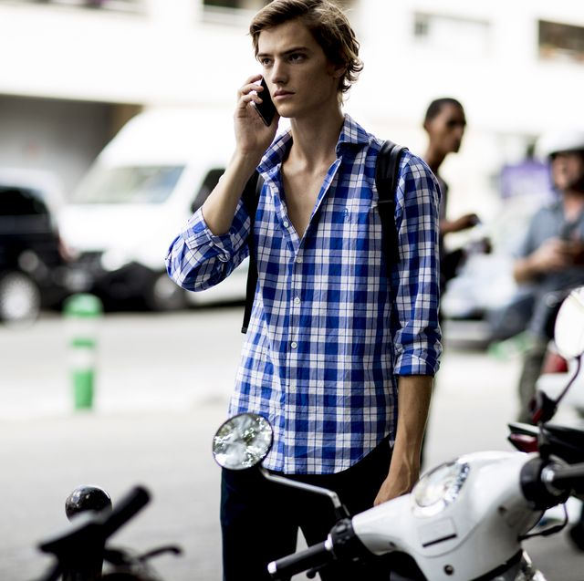 Street fashion, Fashion, Vehicle, Design, Photography, Cool, Plaid, Bicycle, Scooter, Style,