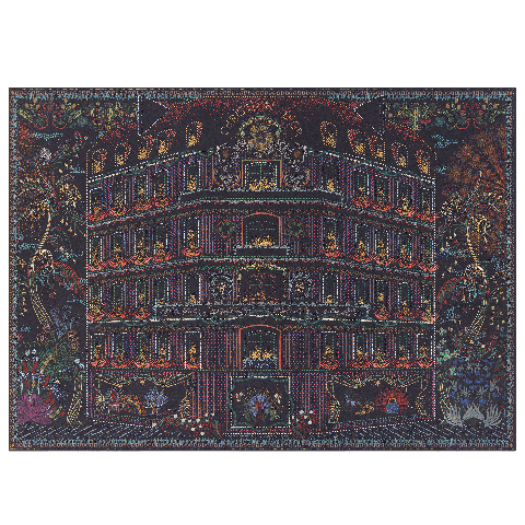 dior 30 montaigne 光雕藝術拼圖