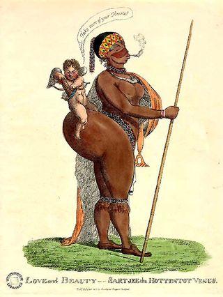 caricatura de sara baartman de principios del siglo xix