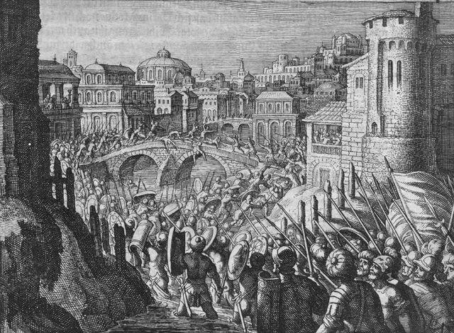 representación de la conquista de babilonia en el año 538, uno de los períodos más difíciles del ser humano para vivir