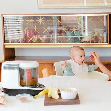 Child, Room, Home, Furniture, Interior design, Toddler, Breakfast, Kitchen, Tableware, Table,