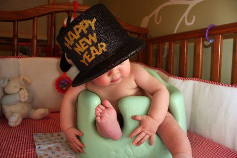 baby celebrates new year