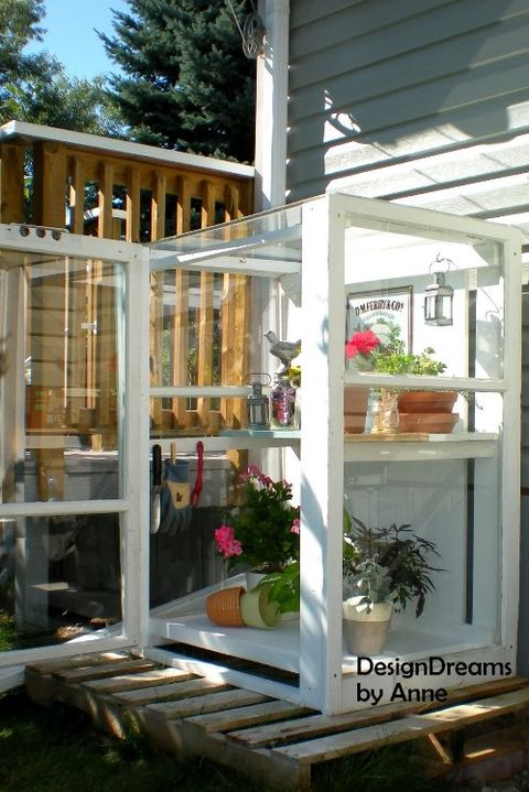22 DIY Backyard Greenhouses - How to Make a Greenhouse Temp Greenhouse Plans on cottage plans, cold frame plans, garage plans, sandbox plans, permaculture plans, earth covered hobbit home plans, gardening plans, practical home plans, studio plans, deck plans, barn plans, christmas plans, green home plans, fence plans, outdoor plans, pergola plans, playhouse plans, windmill plans, solar powered home plans, cabin plans,