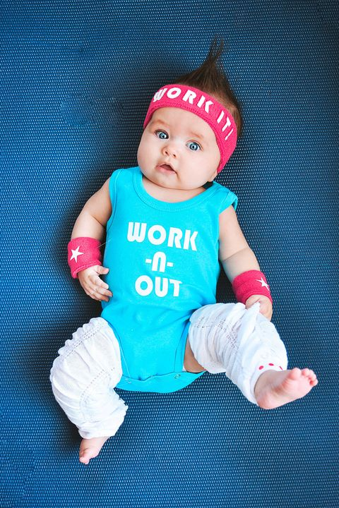 baby halloween costume 80s workout