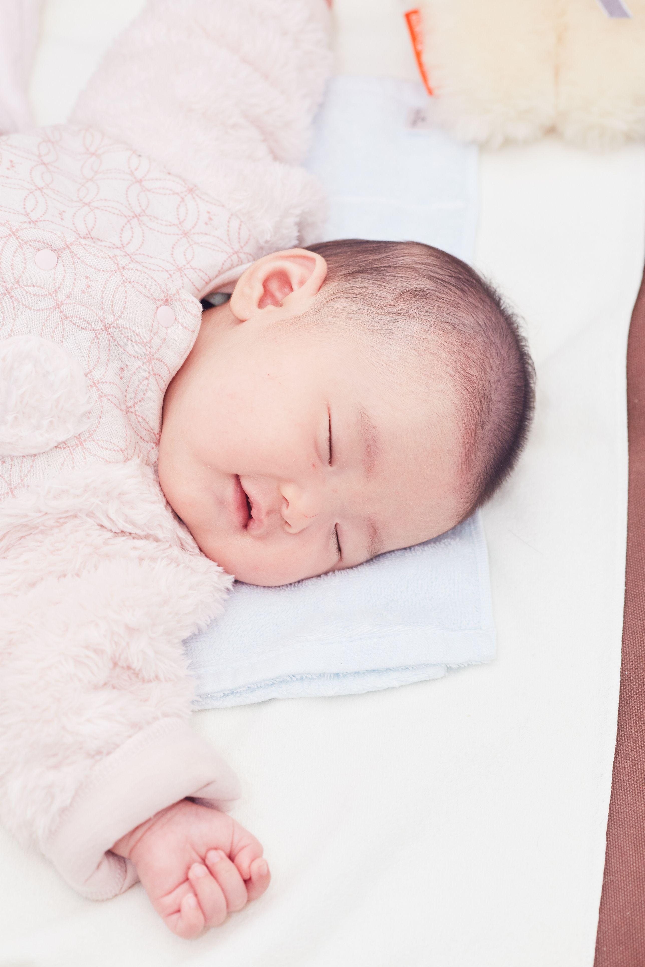 baby happily asleep
