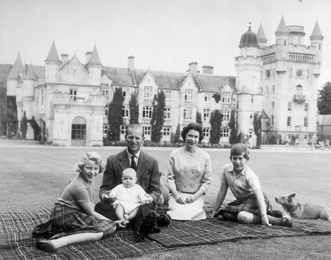 Queen Elizabeth at a Picnic with the Royal Family