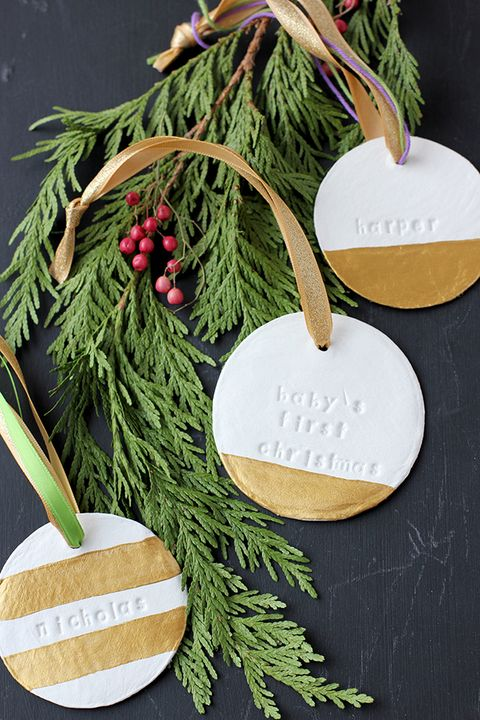 baby's first christmas ornament diy
