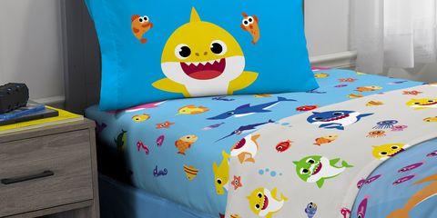 Baby Shark bedding from Walmart
