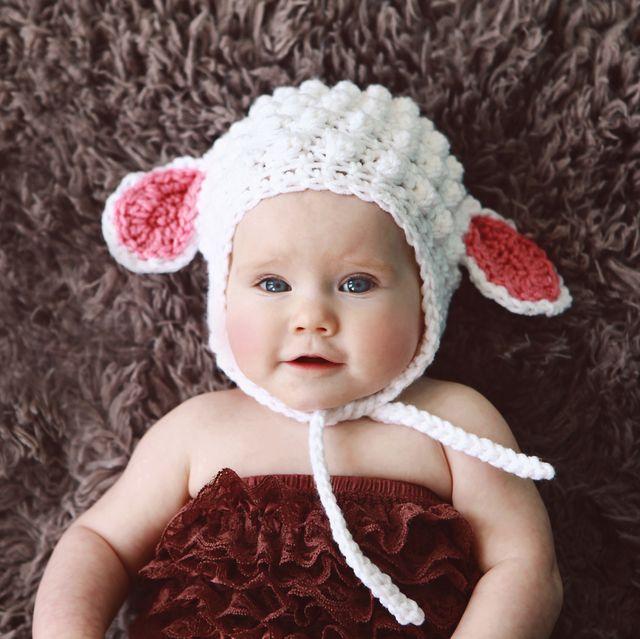 MarchBaby Wearing Lamb Hat