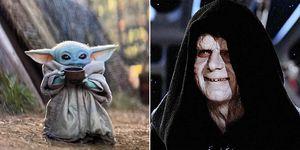 Baby Yoda Emperador Palpatine