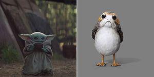 Star Wars Yoda Porgs