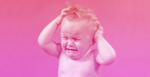 Face, Pink, Child, Facial expression, Skin, Head, Cheek, Chin, Baby, Arm,