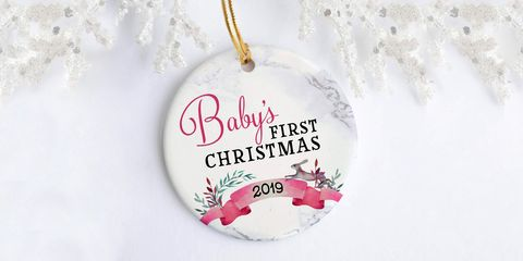 13 Best Baby's First Christmas Ornament Ideas for 2019 - Personalized Baby Ornaments