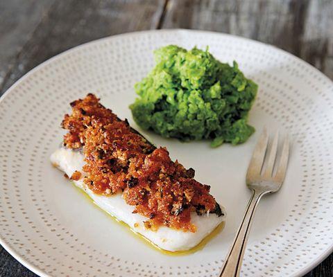 Menú gourmet: Bacalao al horno con puré de guisantes