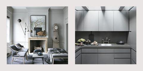 White, Black, Room, Furniture, Black-and-white, Interior design, Property, Floor, Tile, Wall,