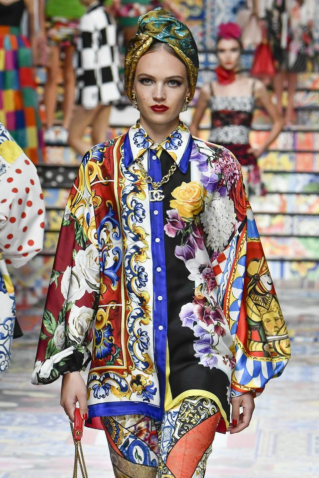 milan, italy   september 23 a model walks the runway at the dolce  gabbana ready to wear springsummer 2021 fashion show during the milan womens fashion week on september 23, 2020 in milan, italy photo by victor virgilegamma rapho via getty images