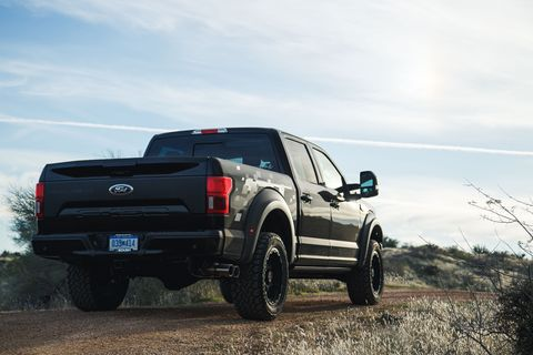 check out this roush f 150 with an off road kit and 650 supercharged horsepower
